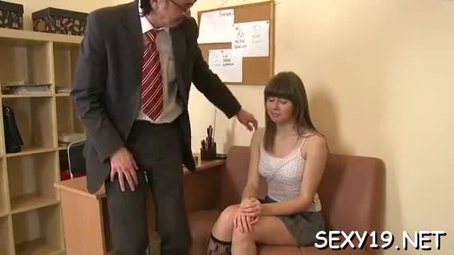 Sweet babe is getting her twat drilled by tutor doggy style
